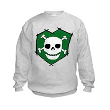 Skull & Crossbones Green Sweatshirt
