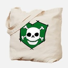 Skull & Crossbones Green Tote Bag