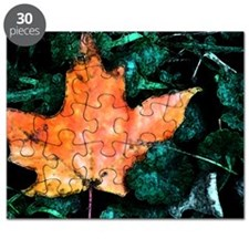 Canadian Maple Leaf Art Puzzle