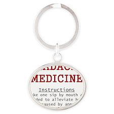 Headache Medicine Oval Keychain