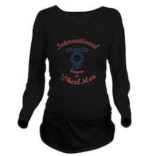 International League Long Sleeve Maternity T-Shirt