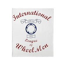 International League of Wheel Men Throw Blanket