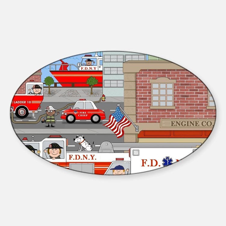NYFD ACTION SCENE Decal