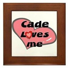 cade loves me  Framed Tile
