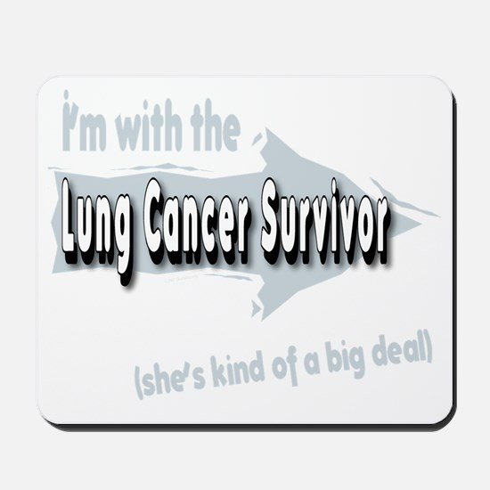 With female Lung Cancer Survivor on my l Mousepad