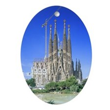 Sagrada Familia Oval Ornament