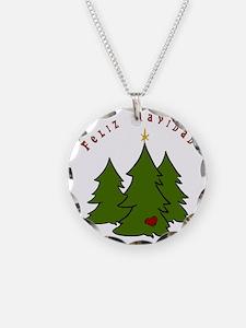 Feliz Navidad Trees Necklace