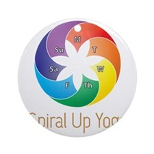 Spiral Up Yoga Round Ornament