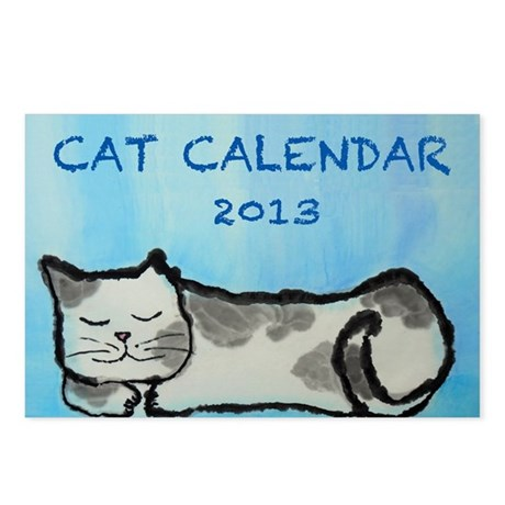 Cat Calendar 2013 Postcards (Package of 8)