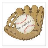 Baseball Square Car Magnets