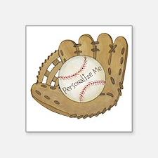 "Custom Baseball Square Sticker 3"" x 3"""