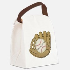 Custom Baseball Canvas Lunch Bag