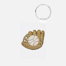 Custom Baseball Aluminum Photo Keychain