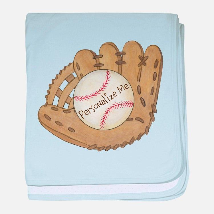 Custom Baseball baby blanket