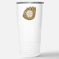 Custom Baseball Stainless Steel Travel Mug