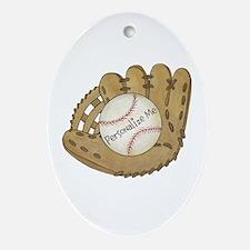 Custom Baseball Ornament (Oval)