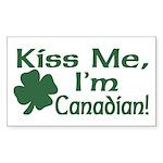 Kiss Me I'm Canadian Rectangle Sticker