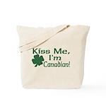 Kiss Me I'm Canadian Tote Bag