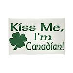 Kiss Me I'm Canadian Rectangle Magnet
