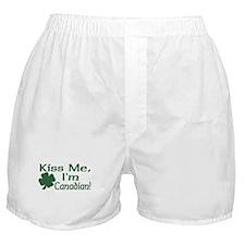 Kiss Me I'm Canadian Boxer Shorts