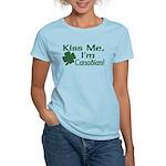 Kiss Me I'm Canadian Women's Light T-Shirt