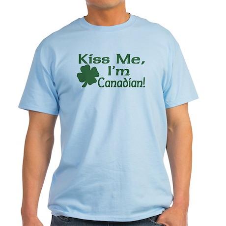 Kiss Me I'm Canadian Light T-Shirt
