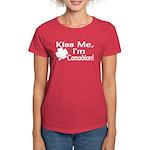 Kiss Me I'm Canadian Women's Dark T-Shirt