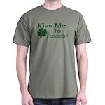 Kiss Me I'm Canadian Dark T-Shirt