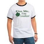 Kiss Me I'm Canadian Ringer T