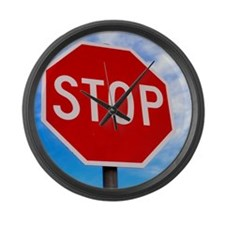 Stop Sign Large Wall Clock