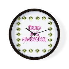 Cute Tax deduction Wall Clock