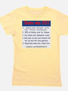 ObamaWins2012 Girl's Tee
