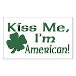 Kiss Me I'm American Rectangle Sticker