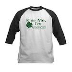 Kiss Me I'm American Kids Baseball Jersey