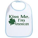 Kiss Me I'm American Bib