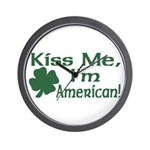 Kiss Me I'm American Wall Clock