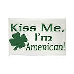 Kiss Me I'm American Rectangle Magnet
