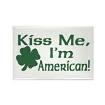 Kiss Me I'm American Rectangle Magnet (10 pack)