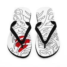 BoostedHeartDesign Flip Flops