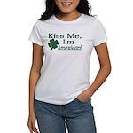 Kiss Me I'm American Women's T-Shirt
