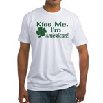 Kiss Me I'm American Fitted T-Shirt