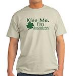 Kiss Me I'm American Light T-Shirt
