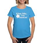 Kiss Me I'm American Women's Dark T-Shirt