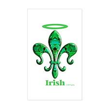 Irish Saint Rectangle Decal