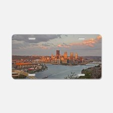 Pittsburgh Sunset Aluminum License Plate