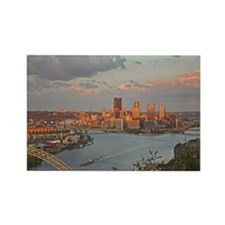 Pittsburgh Sunset Rectangle Magnet