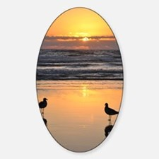 Early Bird Gets the Worm Sticker (Oval)