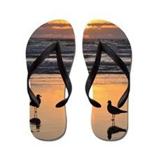 Early Bird Gets the Worm Flip Flops