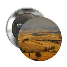 """Landscape of Tuscany, Italy 2.25"""" Button"""