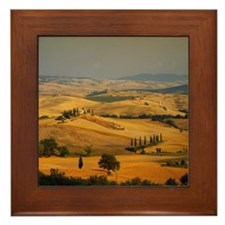 Landscape of Tuscany, Italy Framed Tile